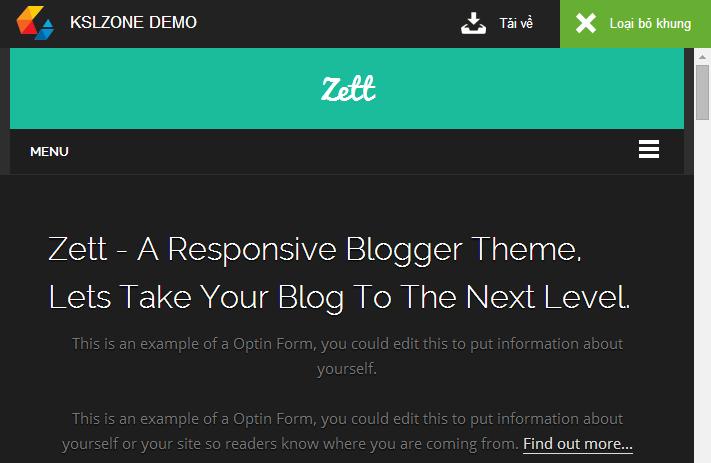 Chia sẻ trang demo và download đẹp cho Blogger