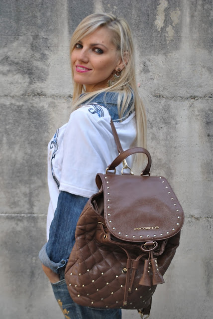zainetto fornarina mariafelicia magno fashion blogger color block by felym fashion blog italiani fashion blogger italiane blog di moda blogger italiane di moda ragazze bionde blonde girls blonde hair blondie