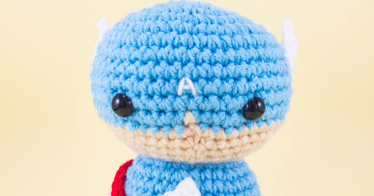 Minion Crochet Patterns Pattern Captain America Pdf Amigurumi Doll