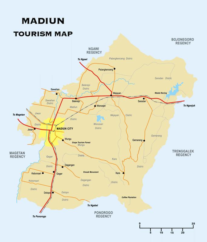 Berikut Gambar Peta Kabupaten Madiun Klik Memperbesar Jawa Timur