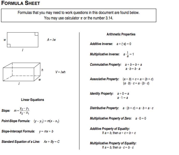 algebra formulas sheet - Google Search | High School | Pinterest ...