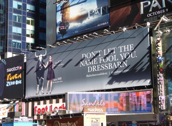 Dress Barn FW 2015 billboard NYC