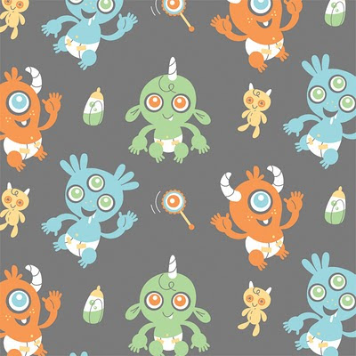 Horrible adorables project selvage round 1 for Baby monster fabric