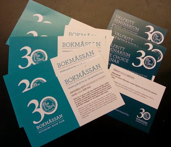 Vill du ha en gratisbiljett till Bokmässan i Göteborg