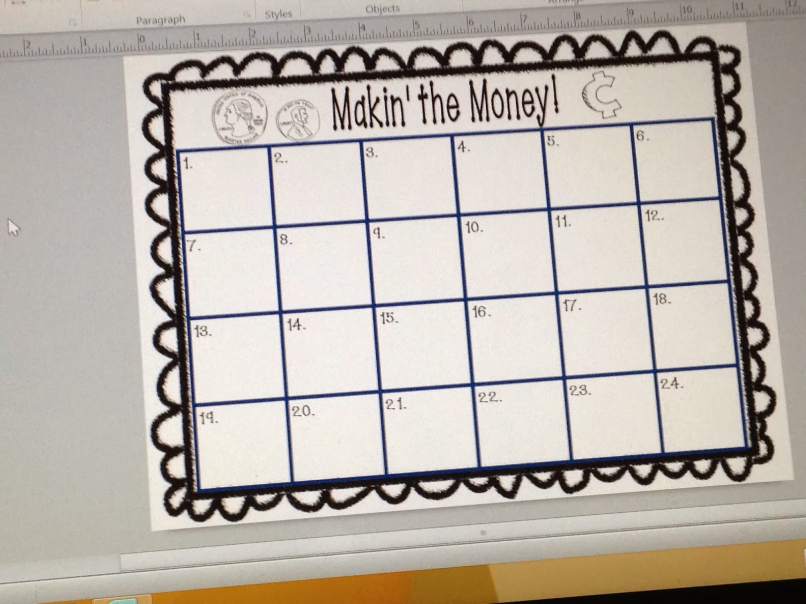 http://www.teacherspayteachers.com/Product/Makin-the-Money-1085302