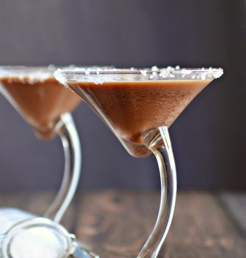 Salted Caramel Triple Threat Chocolate Martini