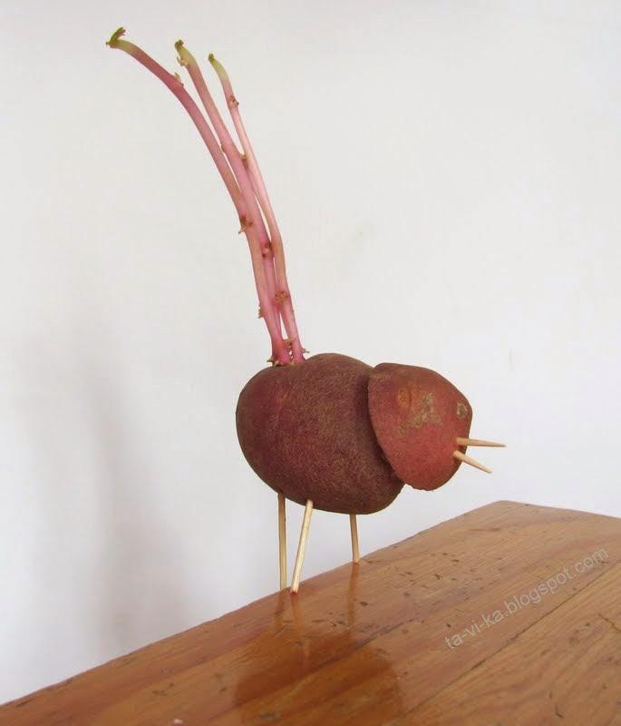 научная игрушка - поделка из картошки для детей своими руками