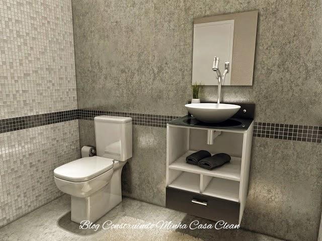 Construindo Minha Casa Clean Banheiros e Lavabos Pequenos!!! Saiba como Deco -> Cuba Banheiro China