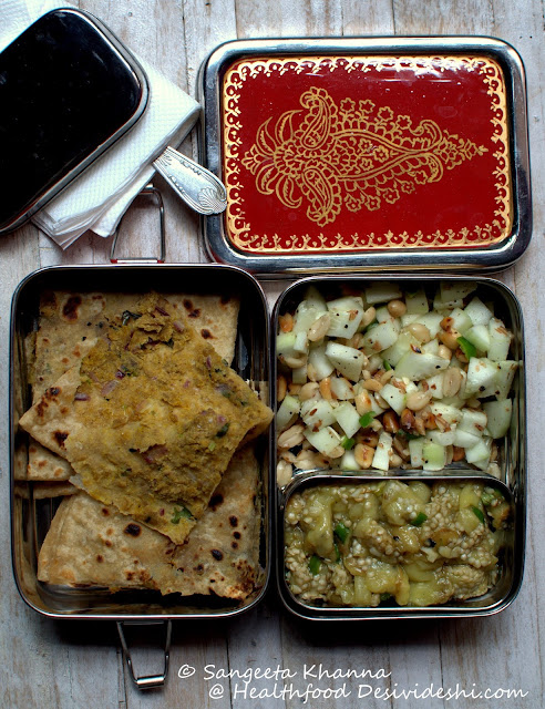 sattu ka paratha lunch box