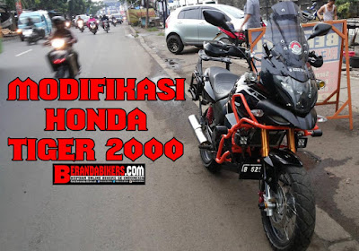 Modifikasi Honda Tiger 2000 style Sport Touring Adventure, bikin ngiler penunggang Tiger lainnya!