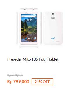 Preorder Mito T35 Putih