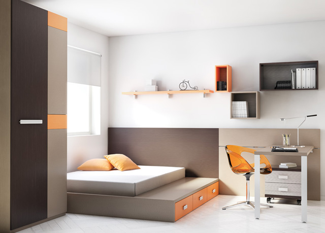 Dormitorios juveniles para adolescentes de 12 a os 13 a os - Habitaciones juveniles 2 camas ...
