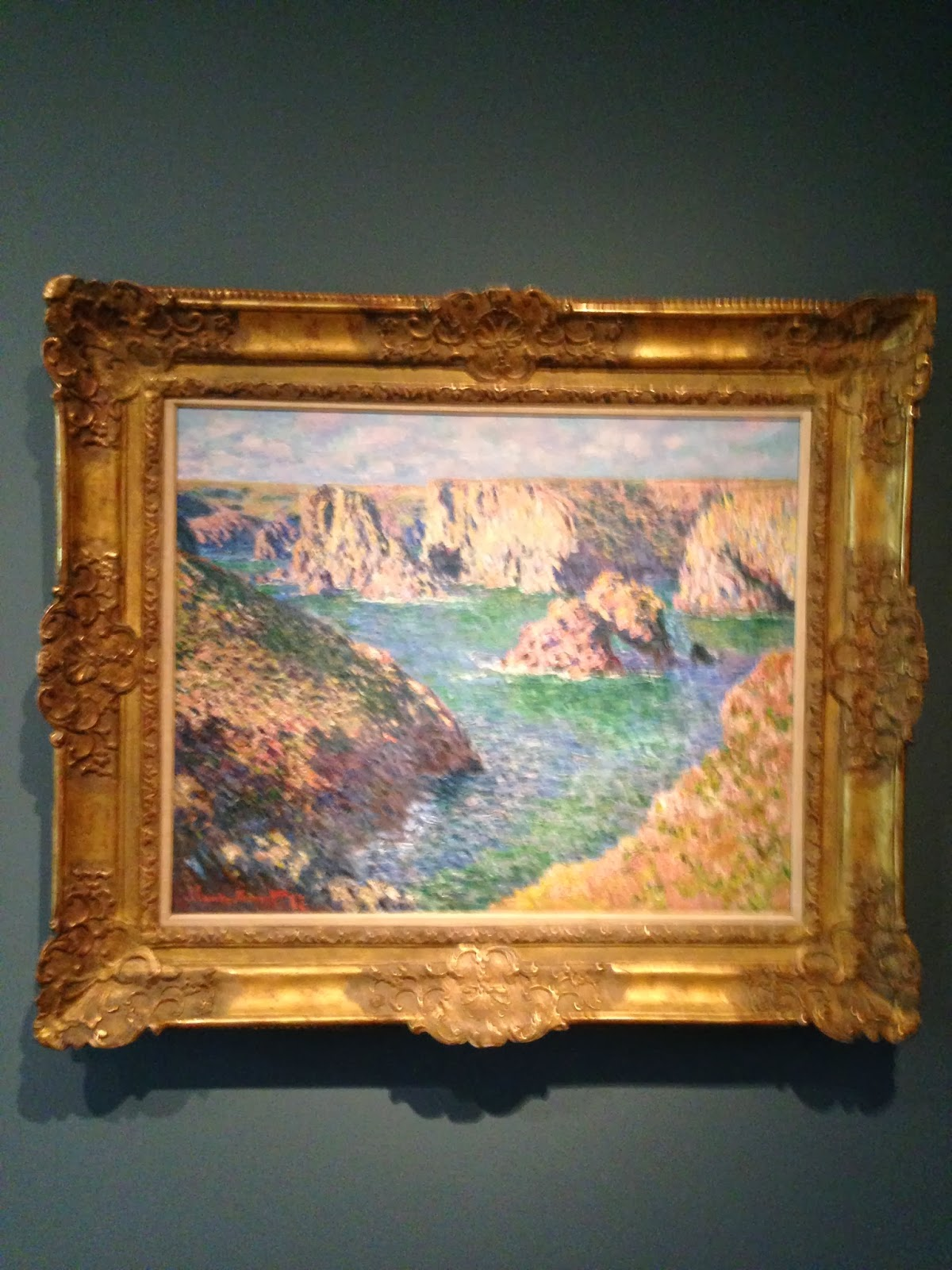 the museum experience fall photo essay yale art gallery claude monet port domois belle ile 1887