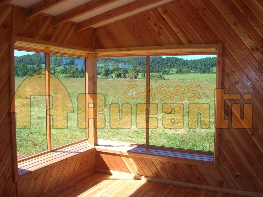 interior de casa cabaa de madera chilena