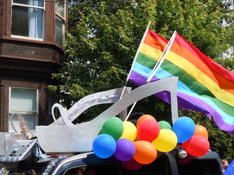 Vancouver Pride Parade rainbow heels