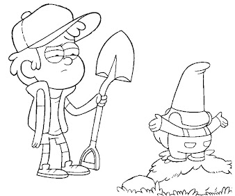 #1 Dipper Pines Coloring Page