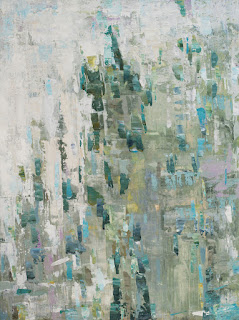 """Abstract painting titled Rain Dance by Karri Allrich, 48x36"""" acrylic on gallery wrap canvas."""