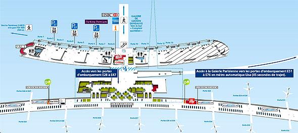Dicas pr ticas de franc s para brasileiros mapa aeroporto for Salon air france terminal 2e