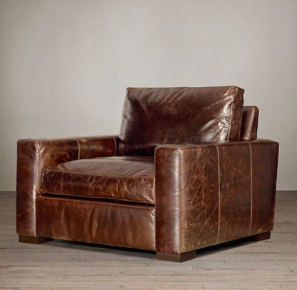 Restoration Hardware Leather Chair: Crafty Texas Girls: RH Bromptom Leather Chair-- For Less :
