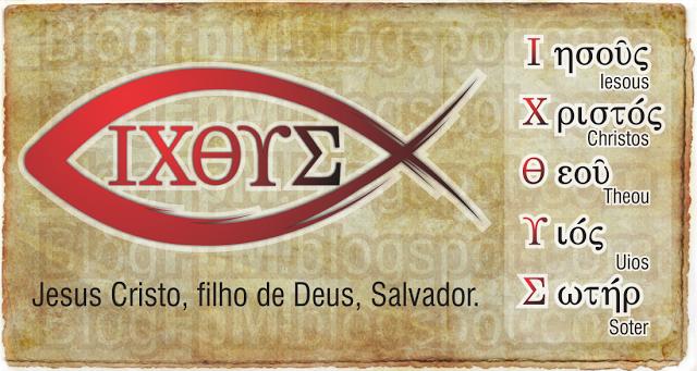 Ichthys (Ichtus) é a palavra grega para peixe, e as suas letras formam o acrônimo grego com a frase