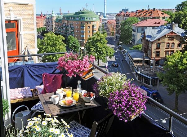 decorar pequeño balcón