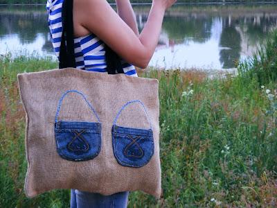 geanta din panza de sac