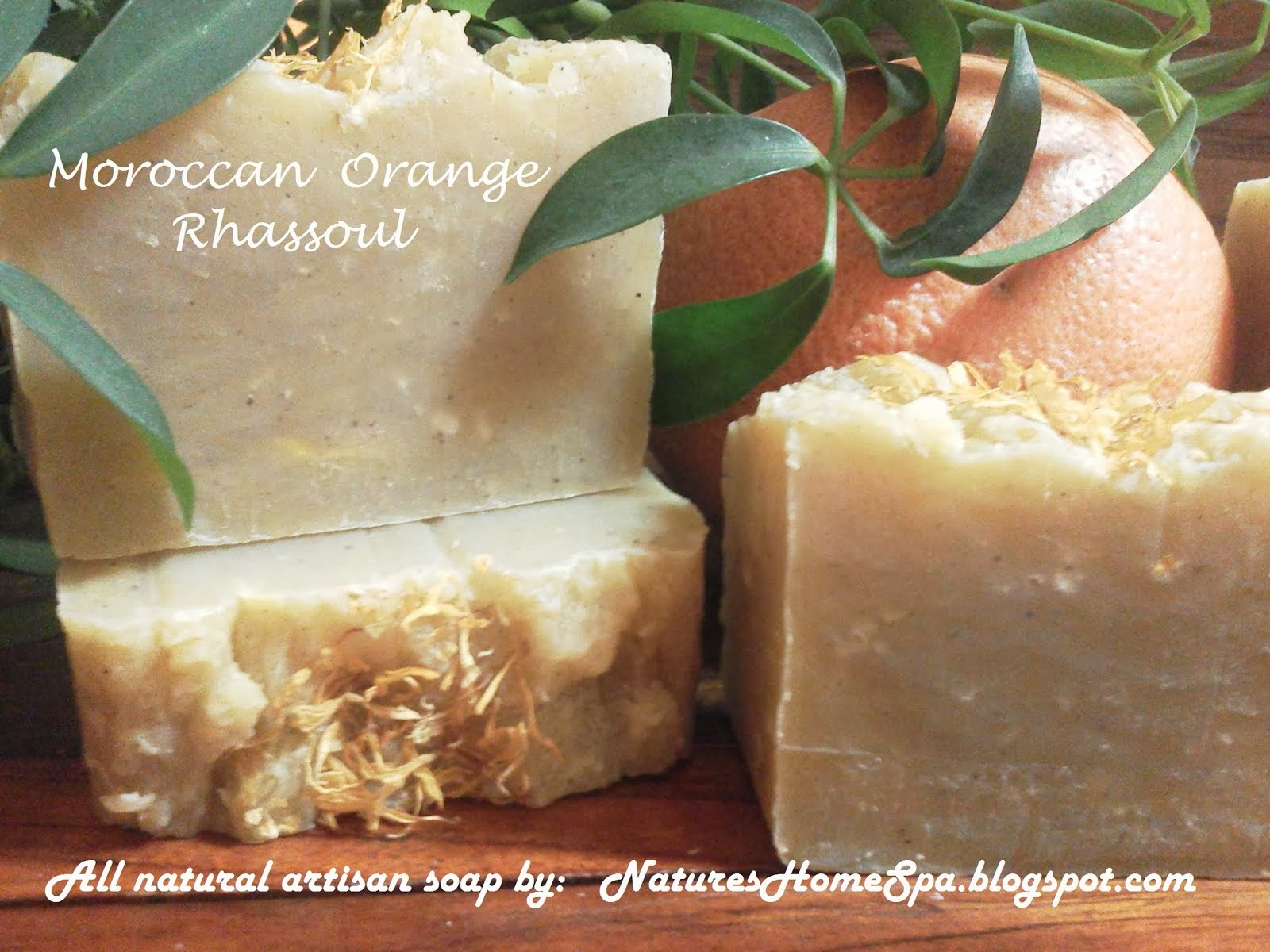 Exotic. All natural, Moroccan Orange Rhassoul soap