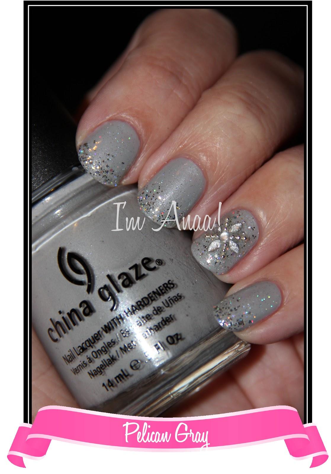 New Year\'s Nails! || China Glaze Pelican Gray