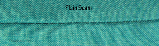 Learn how to sew plain seams ~ Threading My Way