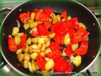 Patate con cipolla e peperone rosso