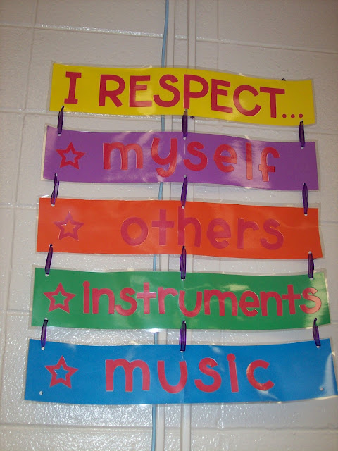 Orchestra music classroom rules: respect