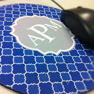 cubicle decor custom quatrefoil mouse pad