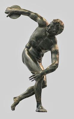 """""""Discóbolo"""" do escultor Míron (século V a.C)"""
