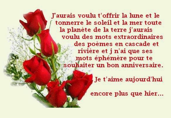Poeme Et Carte Anniversaire Pour Femme Texte Anniversaire Sms