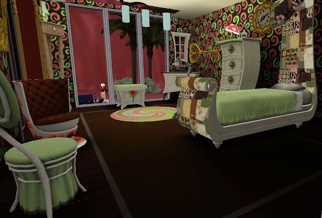 average sim set showcase through the spy glass bedroom