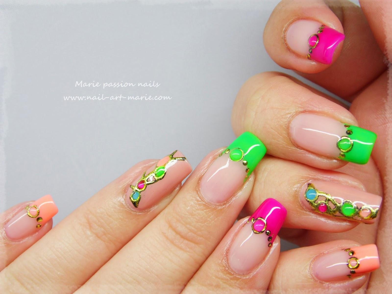 nail art fluo5