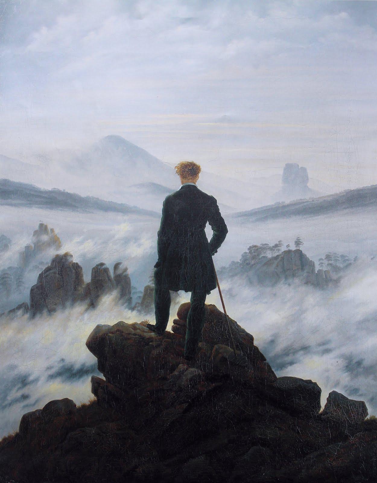 Caspar David Friedrich - O peregrino sobre o mar de névoas