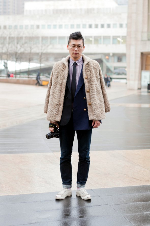 mens street style new york fashion week bloggers style bloggers mbfw nyfw double brested blazer