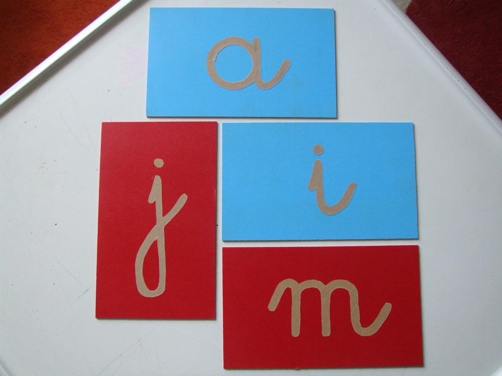 Bevorzugt Les Montessouris: Les lettres rugueuses - Fabrication maison IF78
