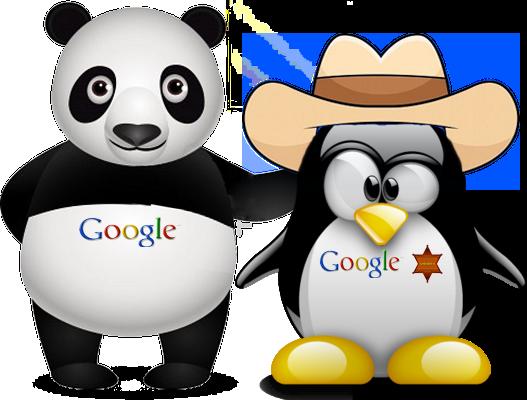 Panda y penguin vs seo para google