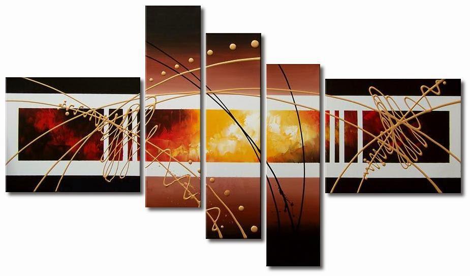 Cuadros abstractos modernos tripticos desde 280 soles s - Cuadros para oficina ...