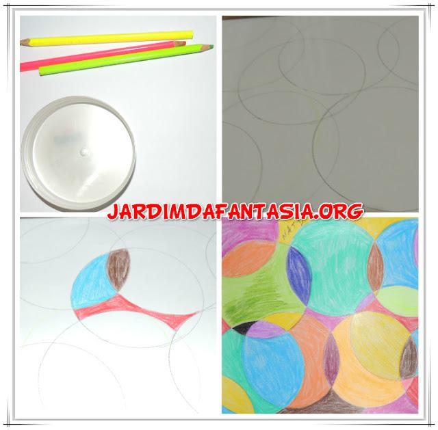 Artes Manuais Pintura em Círculos