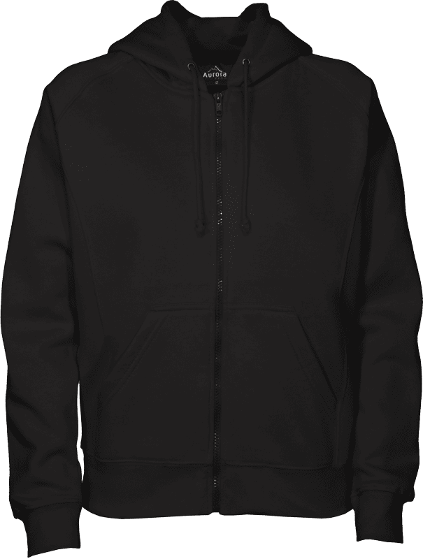 Plain Black Zip Hoodie | Fashion Ql