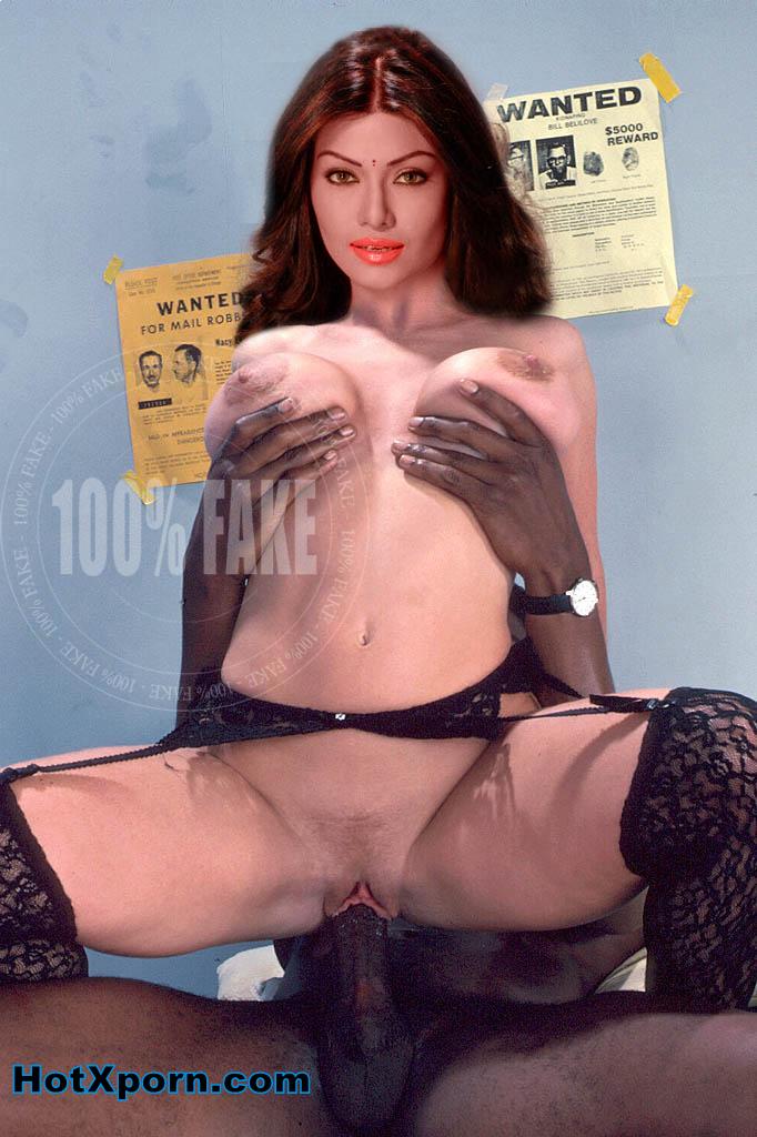 Koena Mitra Pressing her Boobs Fake photo