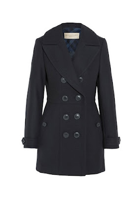 Burberry Brit-Wool Blend Peacoat