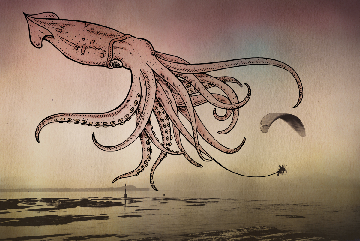 09-Squid-Giulia-Pex-Human-Body-and-the-Ocean-Drawings-on-Photos-www-designstack-co