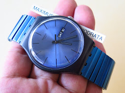 SWATCH BLUE WAVE ANODIZE DIAL AND BRACELET