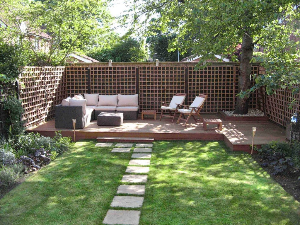 comfortable backyard design