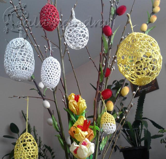świąteczne dekoracje na szydełku