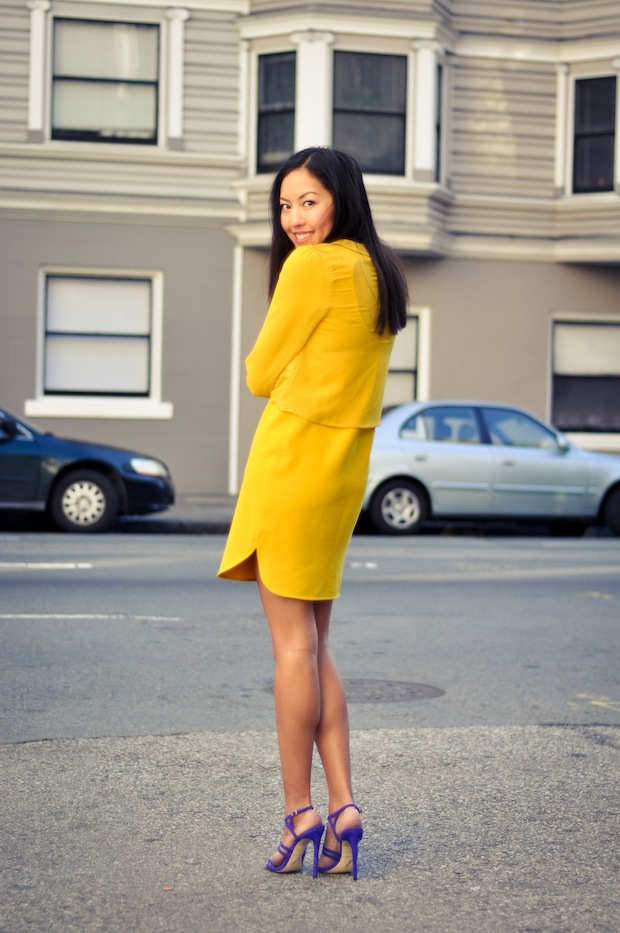 Yellow/Purple | 9to5Chic